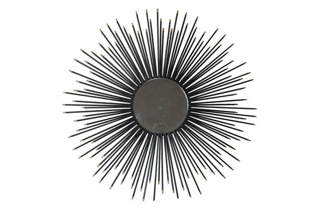 32 Inch Black Starburst Wall Mirror - 360