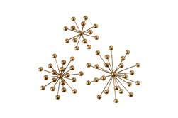 Gold Starburst Wall Decor Set Of 3