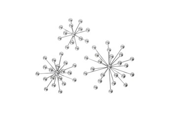 Silver Starburst Wall Decor Set Of 3