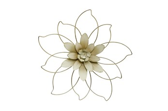 20 Inch Outlined Flower Wall Decor