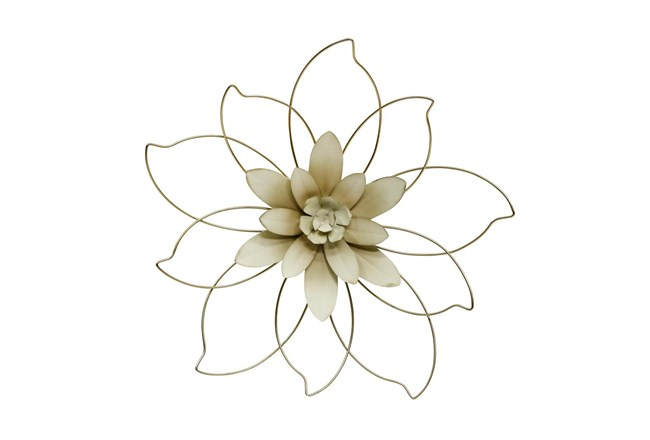 20 Inch Outlined Flower Wall Decor - 360