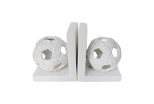 White Orb Book Ends - 360