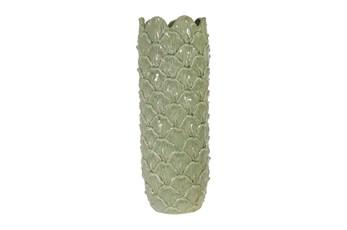 17 Inch Green Koi Vase