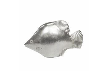 12 Inch Silver Fish Figurine