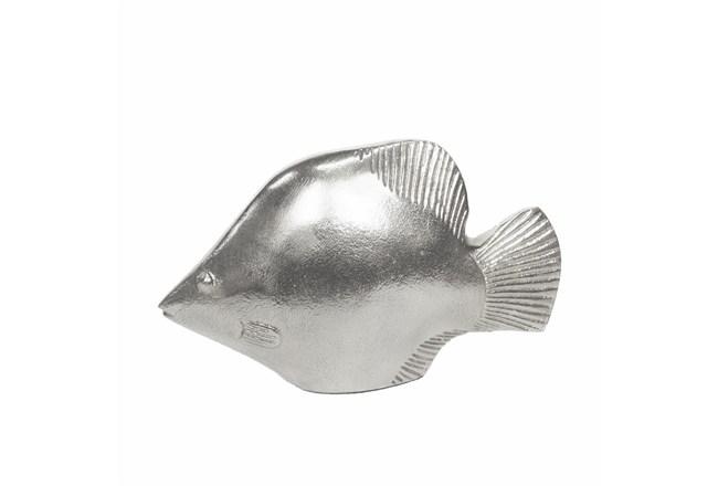 12 Inch Silver Fish Figurine - 360