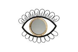 29 Inch Rattan Eye Wall Mirror