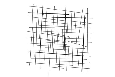 28 Inch Abstract Lines Wall Decor