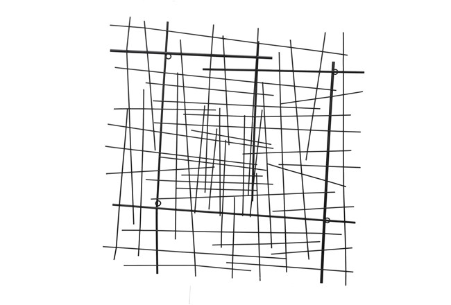 28 Inch Abstract Lines Wall Decor  - 360