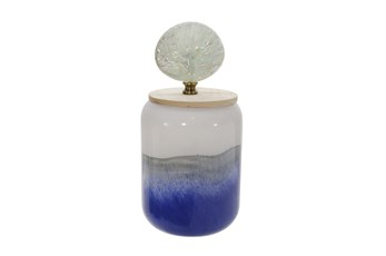 11 Inch Jar With Shell Lid