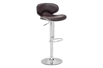 Fly Espresso 33 Inch Adjustable Base Bar Stool