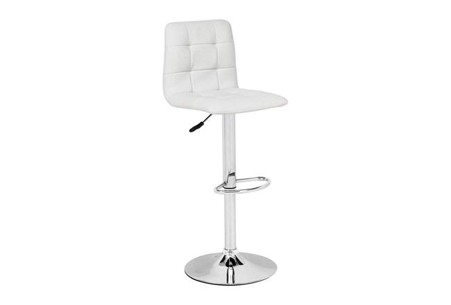 Nitrogen White 24 Inch Bar Stool - 360
