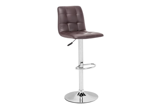 Oxygen Espresso 32 Inch Adjustable Base Bar Stool - 360