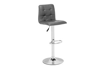 Oxygen Grey 32 Inch Adjustable Base Bar Stool