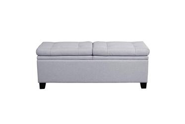 Grey Dual Seat Storage Bench