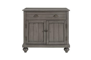 Grey Farmhouse 2 Door Chest