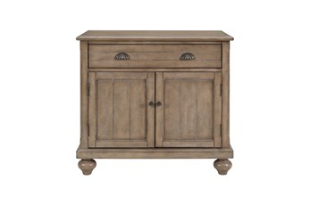 Lt. Brown Farmhouse 2 Door Chest