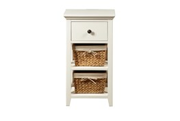 Storage Accent Table With Baskets