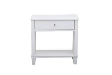 White Open X End Table