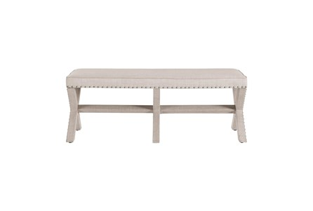 Beige X Upholstered Bench - Main