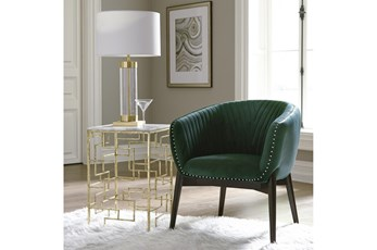 Emerald Curved Channel Back Chair