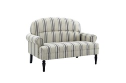 Cambridge Stripe Upholstered Roll Arm Settee