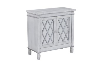 White And Silver Diamond Door Chest
