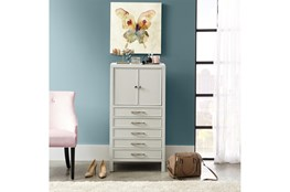 Gray 46 Inch Jewelry Chest