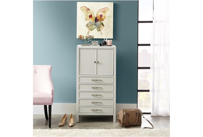 Gray 46 Inch Jewelry Chest - 360