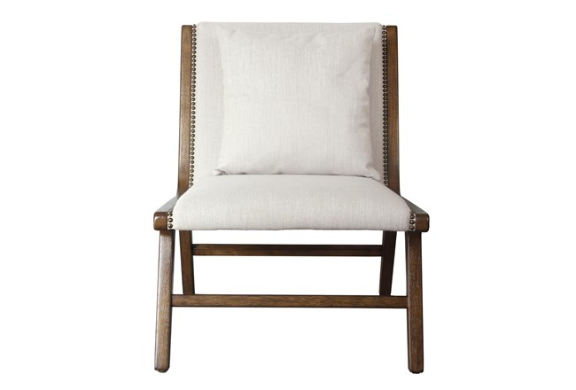 Linen + Wood Lounge Chair - 360