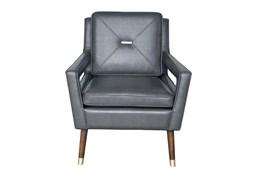 Gray Modern Pull Arm Chair