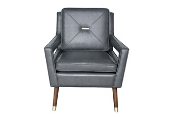 Gray Modern Pull Arm Chair