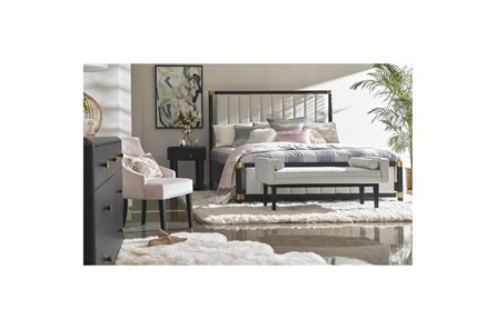 Natural Bolster Pillow Bedroom Bench - Main