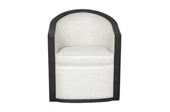 Linen Barrel Accent Chair