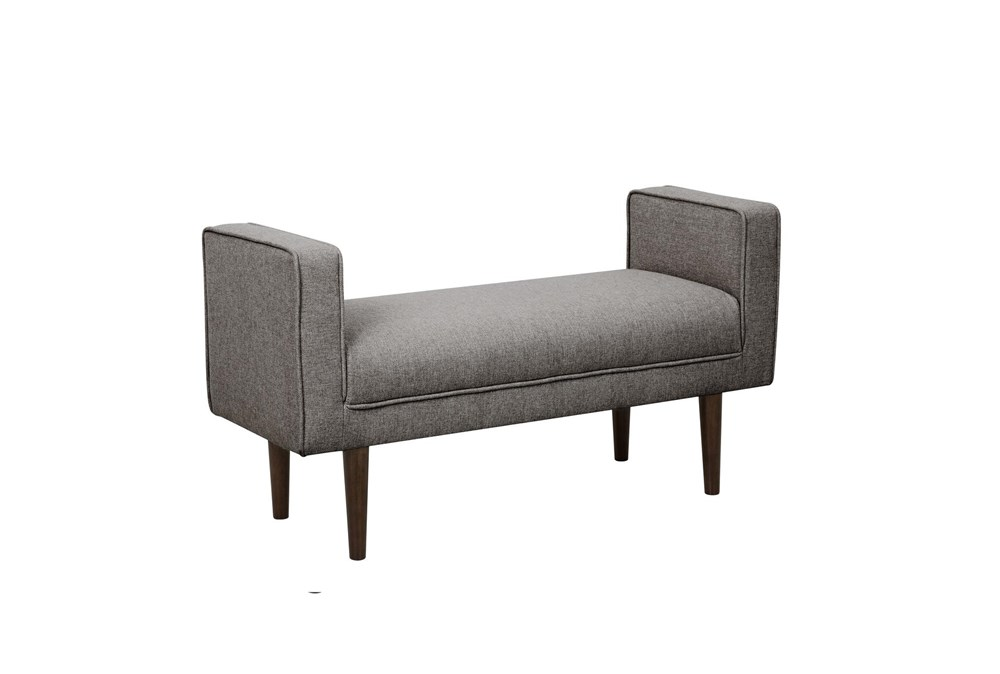 Grey Mid Century Arm Bench