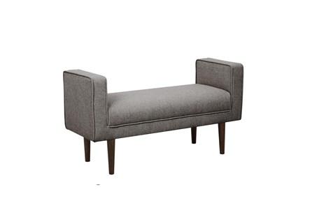 Grey Mid Century Arm Bench - Main
