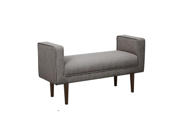 Grey Mid Century Arm Bench - 360