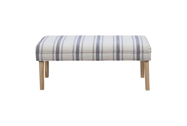 Striped Upholstered Bench - 360