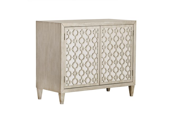 Inlay Patterned Door Chest - 360