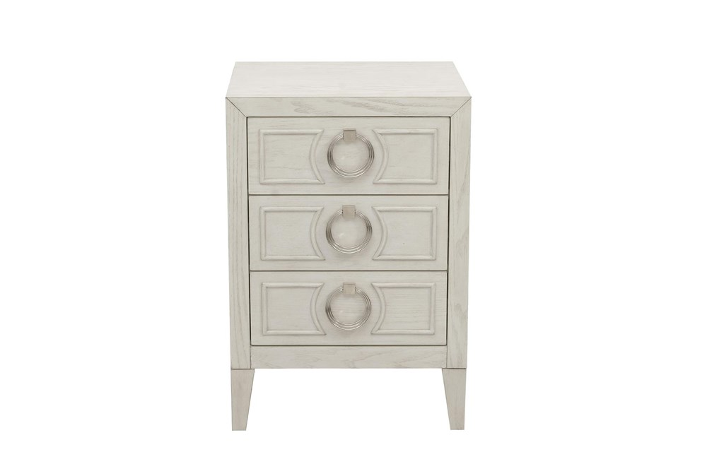 Brushed White Accent Chest