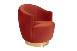Dusty Red Swivel Chair