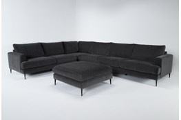 "Giada Encore 4 Piece 147"" Sectional With Cocktail Ottoman"
