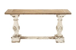 "2 Tone Vintage 59"" Console Table"