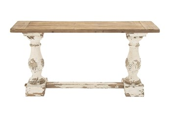 2 Tone Vintage Console Table