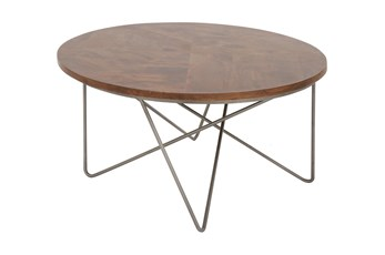 Metal And Wood Industrial Coffee Table