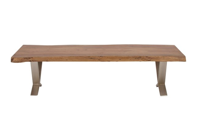 Industrial Metal And Wood Bench - 360