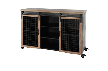 Industrial Cabinet With Sliding Doors