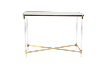 "Acrylic 44"" Console Table"