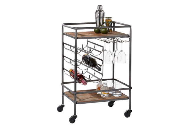 Rolling Industrial Bar Cart - 360