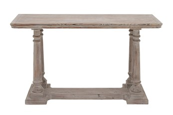 "Rustic Light Brown 52"" Console Table"