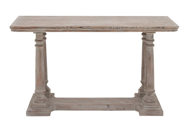 """Rustic Light Brown 52"""" Console Table - 360"""